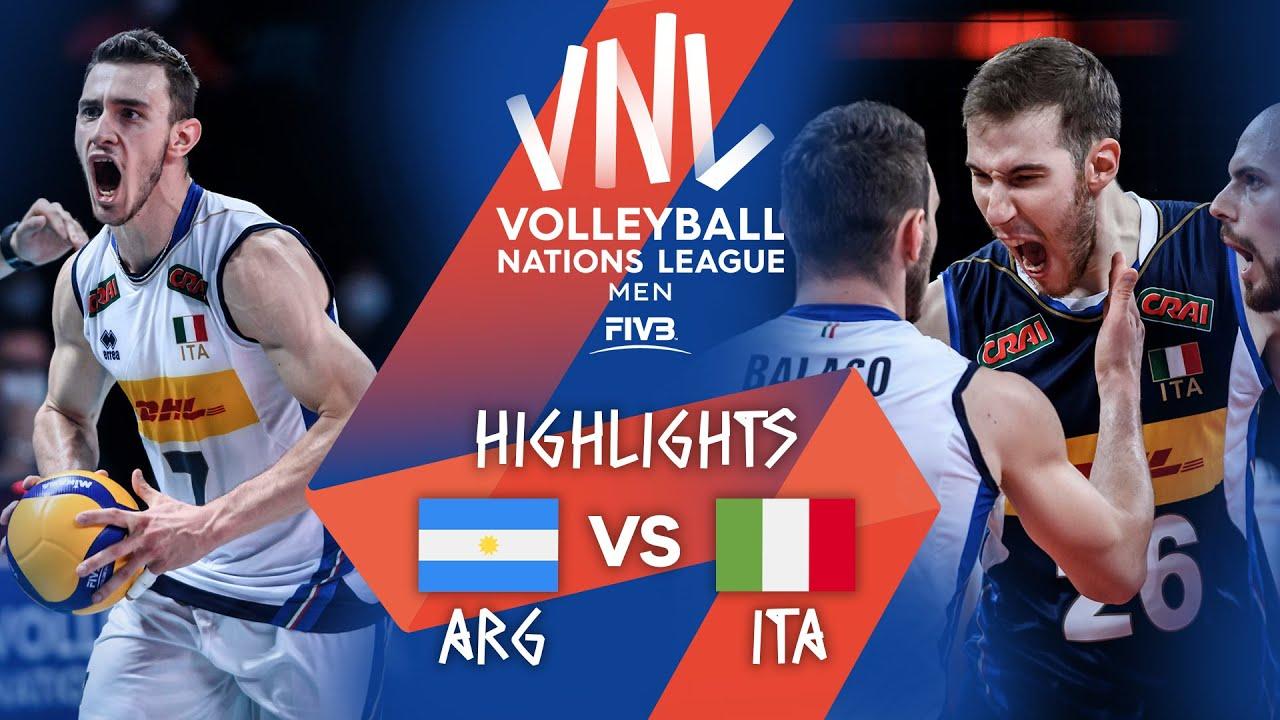 Download ARG  vs. ITA - Highlights Week 3   Men's VNL 2021