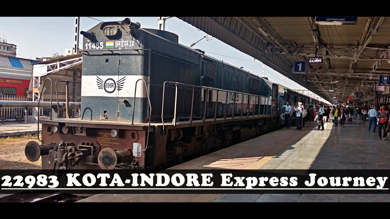 Download KOTA to INDORE via Ruthiyai : Complete Train Journey Highlights (Indian Railways)
