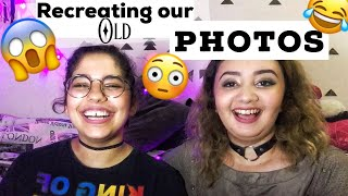 RECREATING OUR CRINGY OLD PHOTOS [ MIDDLE SCHOOL + HIGHSCHOOL] FT EMY LAWSON
