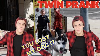 YOU LOST MY DOG!?!? TWIN PRANK // Dolan Twins