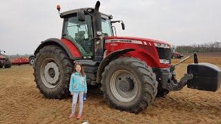 Massey ferguson 8690 tractor plowing szántás
