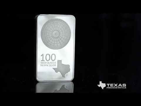 100 oz Texas Mint Silver Bar - Texas Precious Metals