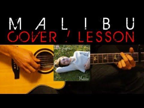 Malibu Miley Cyrus Cover Easy Acoustic Guitar Tutorial Lesson