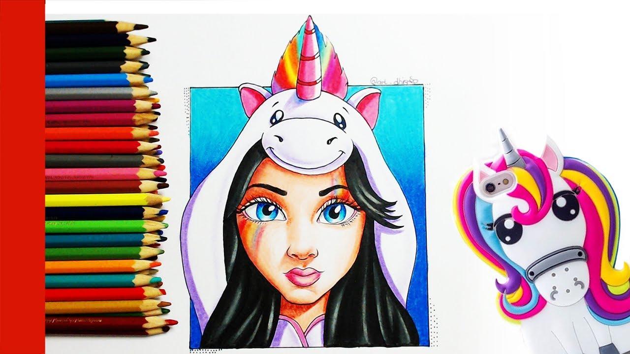 como desenhar garota tumblr unicÓrnio youtube