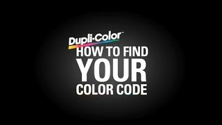 Dupli-Color Find Your Color Code: Ford