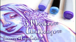 3 MARKER CHALLENGE - January COPIC Colors - MissKerrieJ -