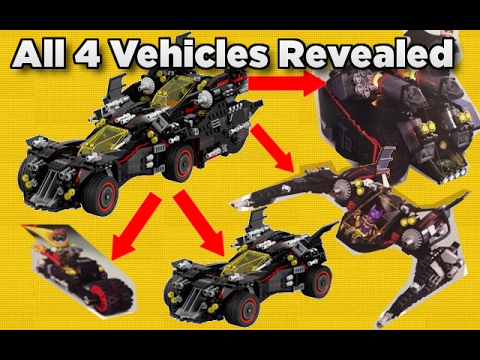 The Lego Batman Movie Ultimate Batmobile All 4 Vehicles ...