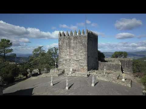 Lanhoso Castle, Portugal [ Aerial Footage 4K ]