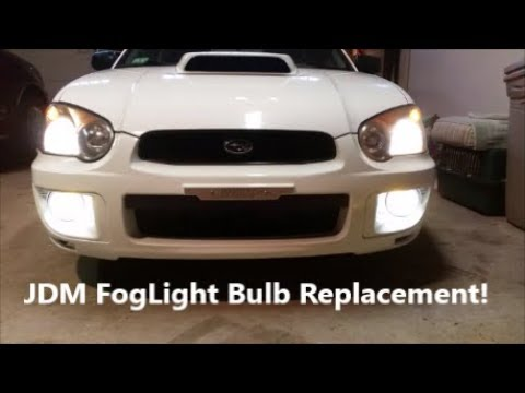 2004 2005 Subaru Impreza Wrx Sti Jdm Foglight Bulb Replacement