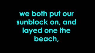 owl city - sunburn - lyrics