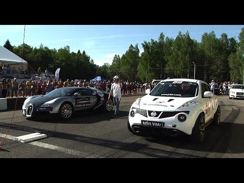 Bugatti Veyron VS Nissan Juke R Russian Drag Race