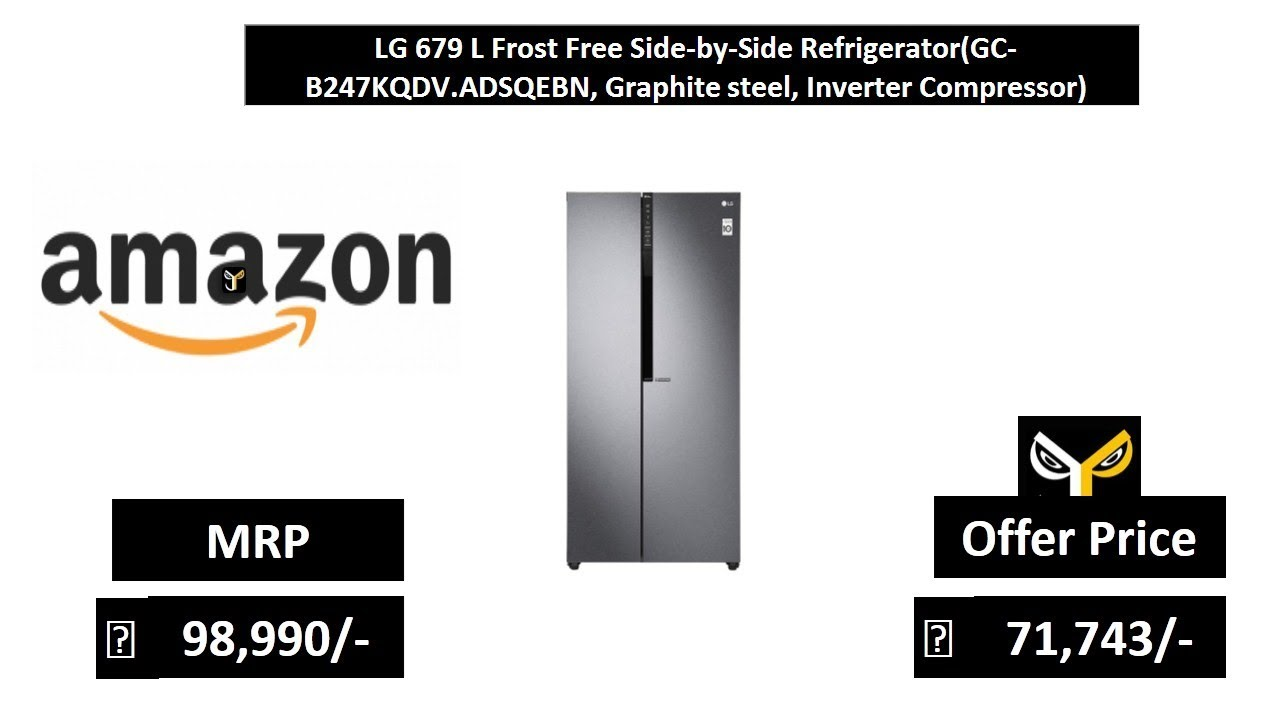 Lg 679 L Frost Free Side By Side Refrigerator Youtube