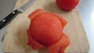 How to peel aฑd seed a tomato