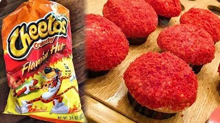 Sprinkles Debuts FLAMING HOT Cheetos Cupcakes & Fans Are Divided
