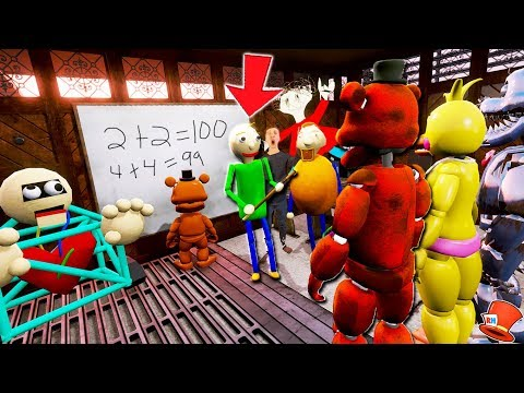 ALL BALDI'S BASICS CHARACTERS PUNISH THE ANIMATRONICS! (GTA 5 Mods FNAF Kids RedHatter) thumbnail