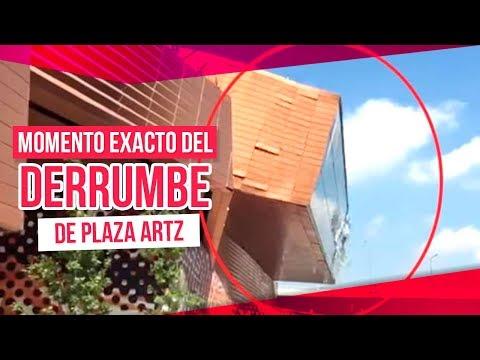 Momento exacto del derrumbe en plaza Artz Pedregal | Noticias con Yuriria Sierra
