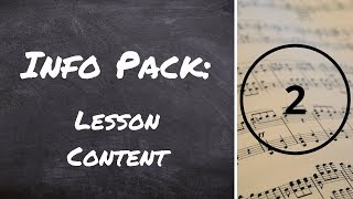 Info Pack 2: Lesson Content