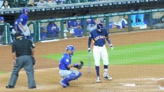 Jose Altuve (HR) Carlos Correa and Carlos Beltran at bat...Astros vs. Cubs...3/30/17
