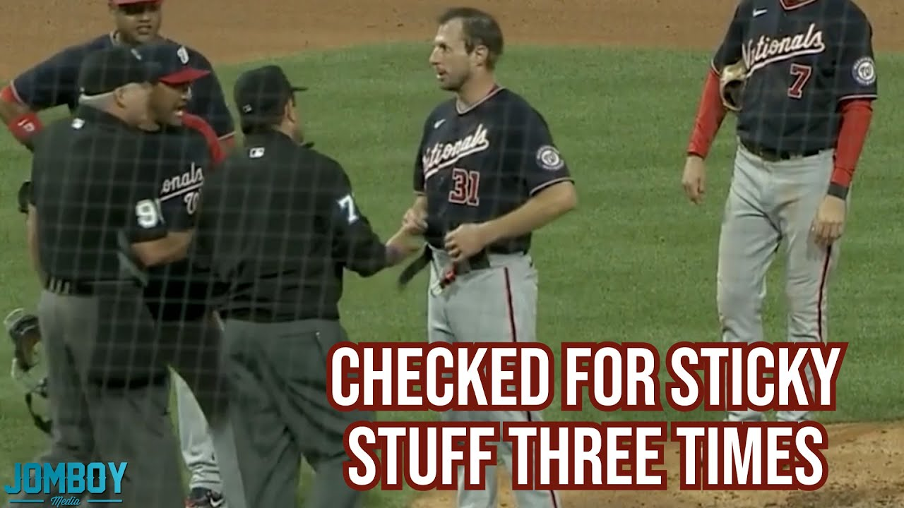 Scherzer gets checked for sticky stuff and chaos ensues, a breakdown