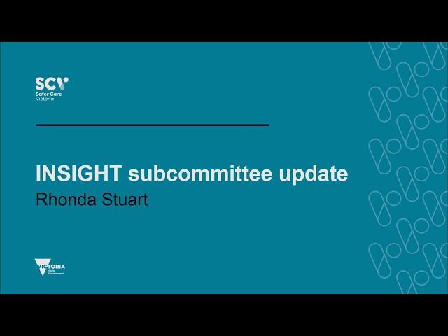 INSIGHT subcommittee update