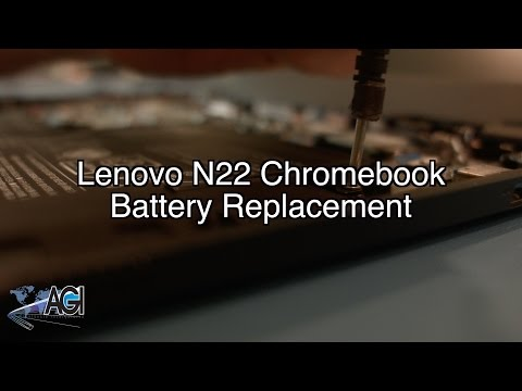 Lenovo N22 Chromebook Battery Replacement - YouTube