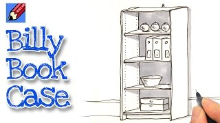 How to draw an Ikea Billy Book Case Real Easy