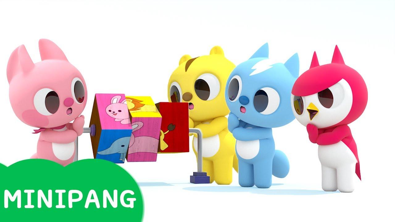[미니팡 에스파냐] 미니특공대 | 동물 블록 맞추기 | 단어놀이 | 에스파냐어 | 스페인어| Word play | Mini-Pang TV 3D Play