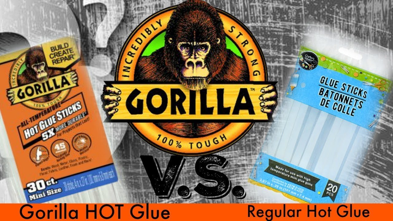 Gorilla Hot Glue VS Regular HOT Glue - Which is Better? The Comparison Hot  Glue Test - Requested