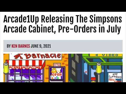 Arcade1Up Simpsons Pre Orders This July Arcade 1Up Price from rarecoolitems