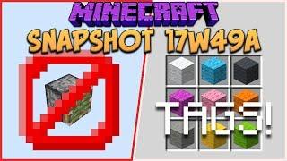 Minecraft 1.13 Snapshot 17w49a Broken Sticky Piston Mechanics & Tags For Custom Crafting