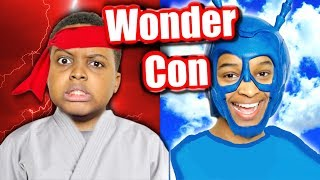 We Met KARATE KID and The TICK! (WonderCon Vlog) - Onyx Family