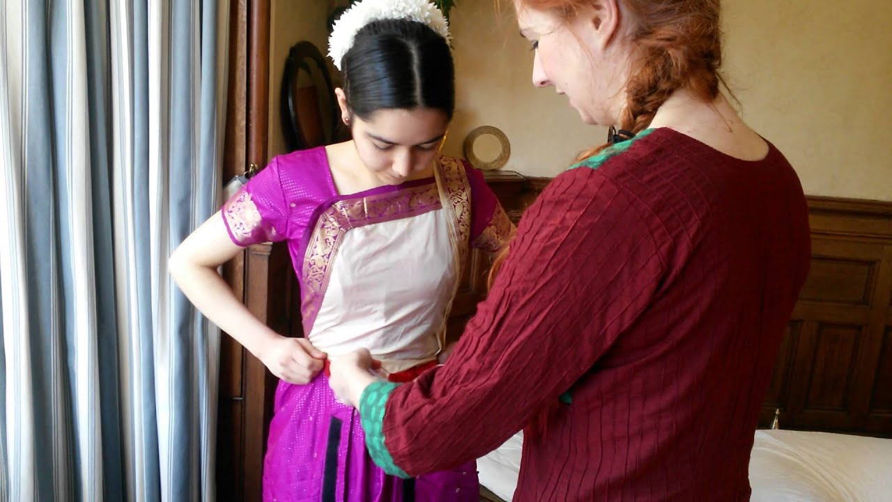 Ihayami School- How to wear Bharatanatyam costume (video tutorial) - YouTube  sc 1 st  YouTube : readymade bharatanatyam costume  - Germanpascual.Com