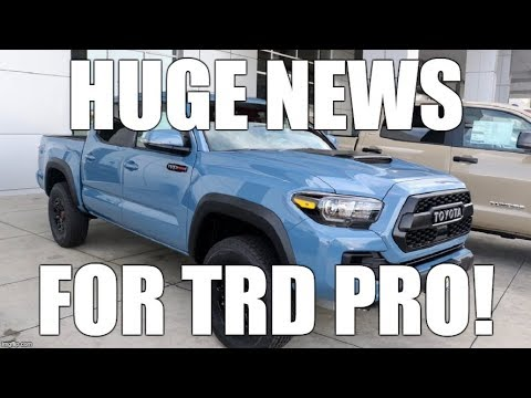 Is Toyota Ready to Announce the 4th Gen TACOMA? TRD Pro Update?