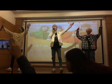 Kpop Group MONT performing HINDI song | HAWAYEIN | FANMEET 6.12.18