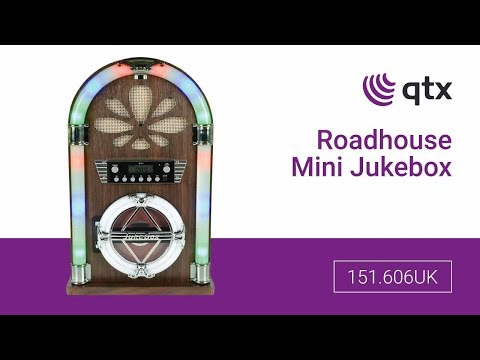 120.210UK - Roadhouse Mini Jukebox with Bluetooth, CD Player and FM Radio