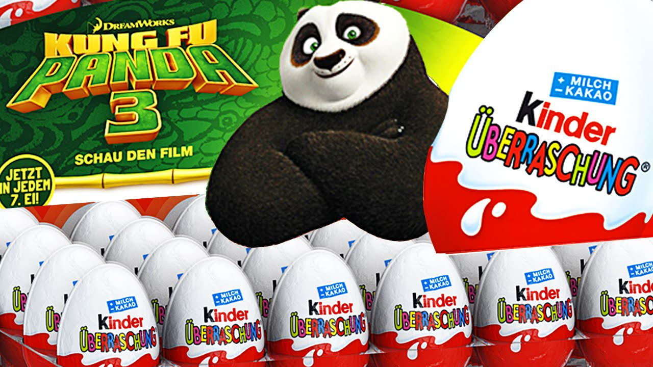 Giant Kung Fu Panda 3 Movie Surprise Egg Set Huevos Kinder
