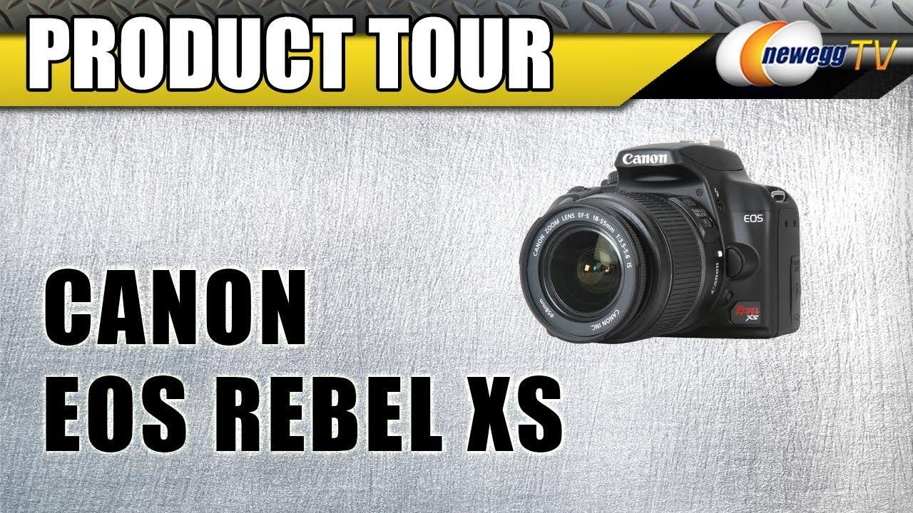 EOS Rebel XS 10 10 MP Canon Digital SLR Camera IS Lens Black - Newegg com