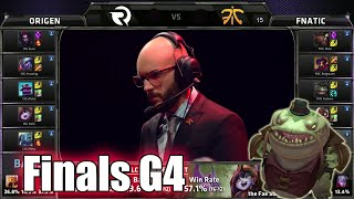 Fnatic vs Origen | Game 4 Grand Finals S5 EU LCS Summer 2015 Playoffs | FNC vs OG G4 Finals