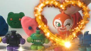 アンパンマン おもちゃ アニメ『ぼくたちの顔をねんどの中から探して色と形と名前を覚えよう』learn colors for children thumbnail