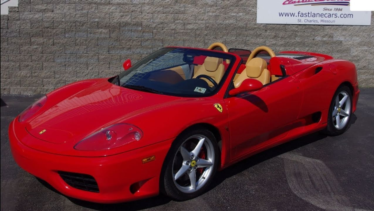 2001 Ferrari 360 Modena Spider   Convertible Exotic Sports Car   YouTube