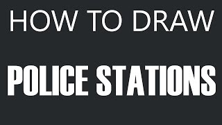 How To Draw A Police Station - Police Headquarters Drawing (Police Stations)