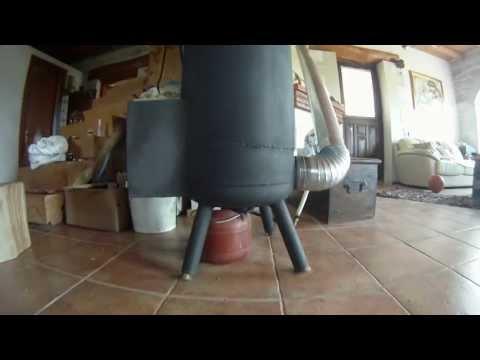 ΞΥΛΟΣΟΜΠΑ ΠΥΡΑΥΛΟΣ [rocket stove] part 1