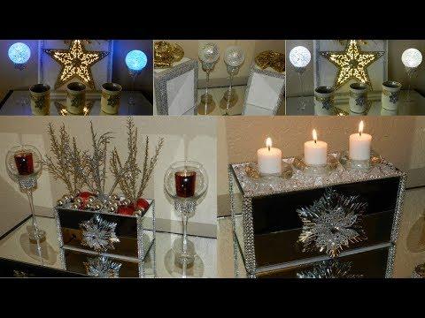 3 Quick and Elegant Home Decor Ideas using Dollar Tree Items|| DIY Elegant Christmas Home Decor||