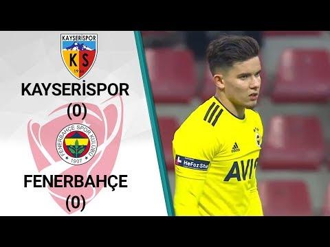 Kayserispor 0 - 0 Fenerbahçe MAÇ ÖZETİ (Ziraat Türkiye Kupası Son 16 Turu İlk Ma