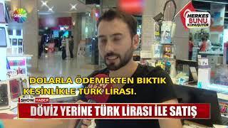 Döviz yerine Türk Lirası ile satış