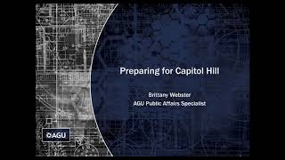 Webinar: How To Prepare For An AGU Congressional Visits Day