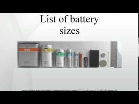 List of battery sizes