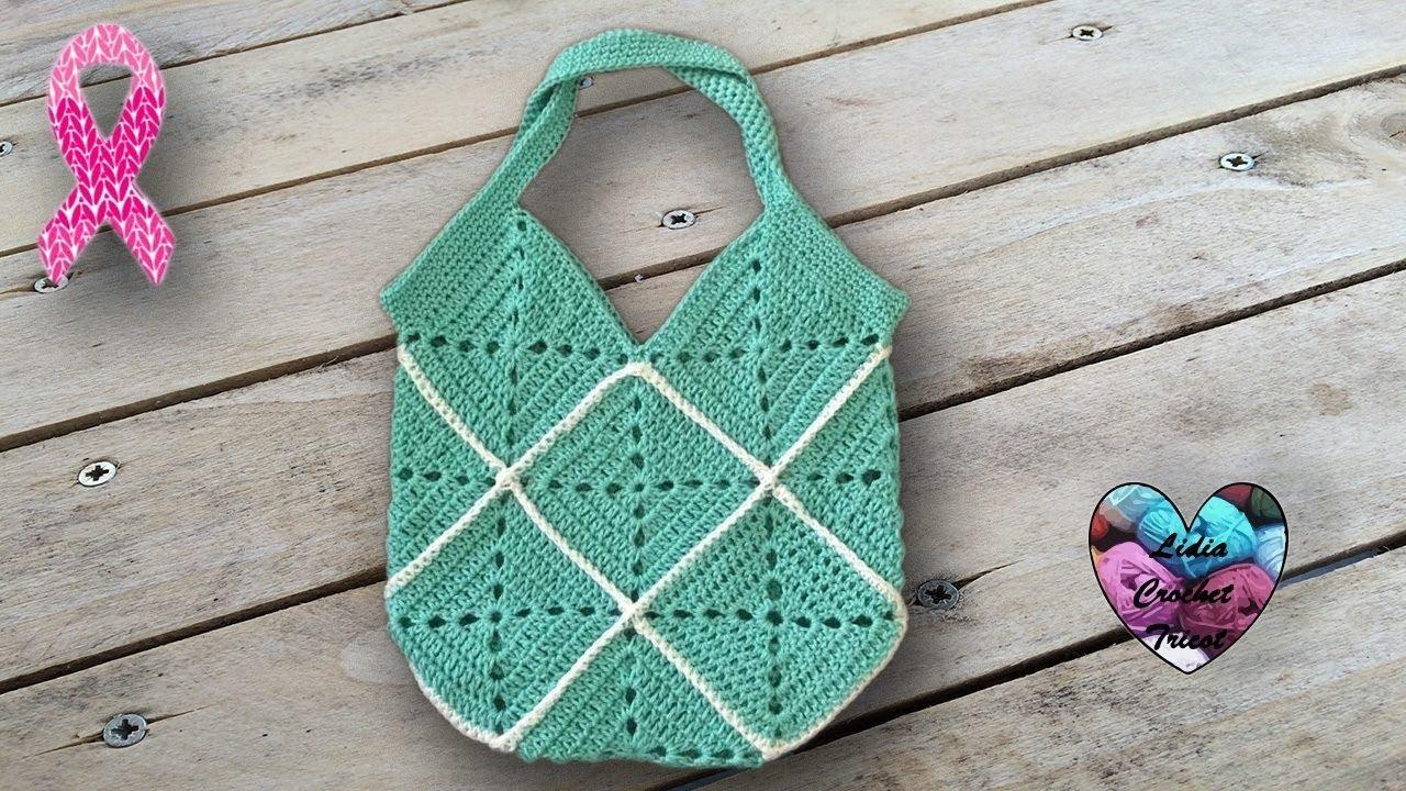 Sac Crochet 16 Carrés Facile