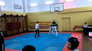 соревнование ТХЭКВОНДО лицей Петру Мовилэ спарринг 15