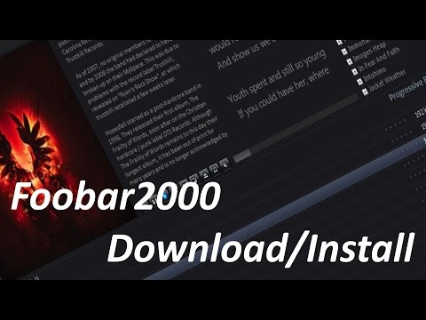 How To DownloadInstall Foobar2000 Music Player 2015